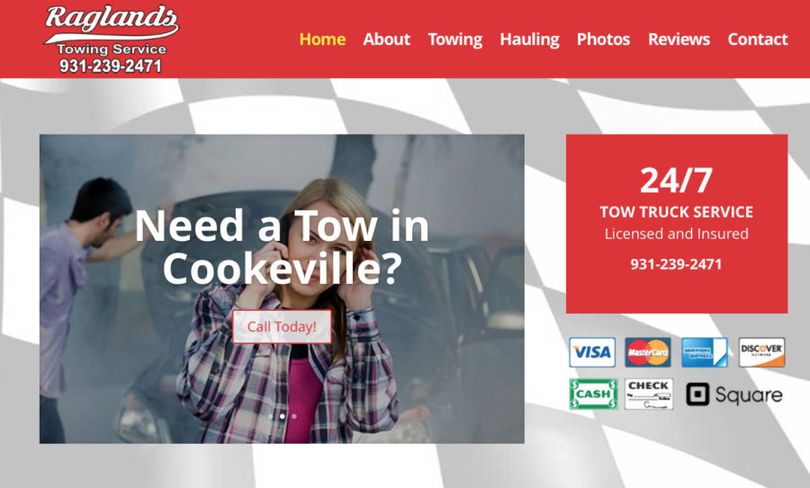 Website Ragland's Cookeville Towing Company